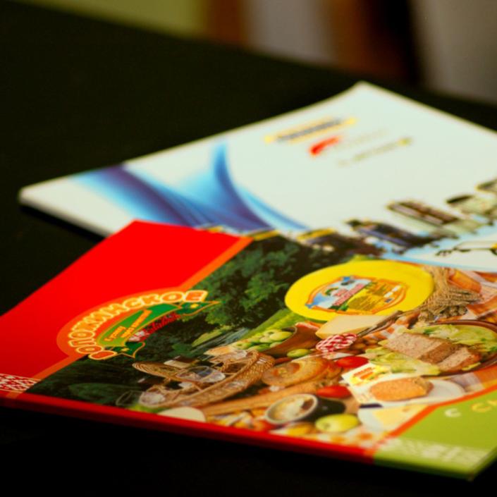 Печать каталогов и брошюр минск